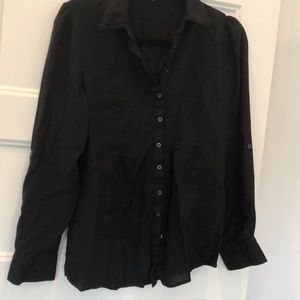 Blouse button down by pins and needles. Rayone